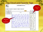 tag cloud and favorite tags