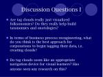 discussion questions i
