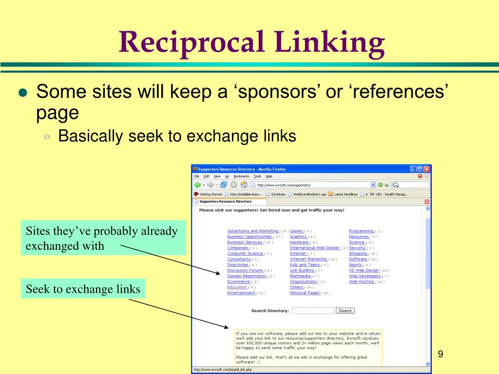 Reciprocal Linking