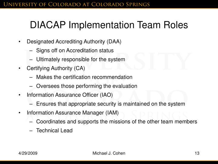 Ppt Practical Diacap Implementation Powerpoint Presentation Id