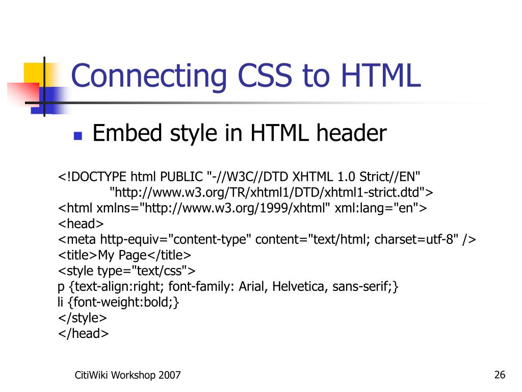 Connecting CSS to HTML