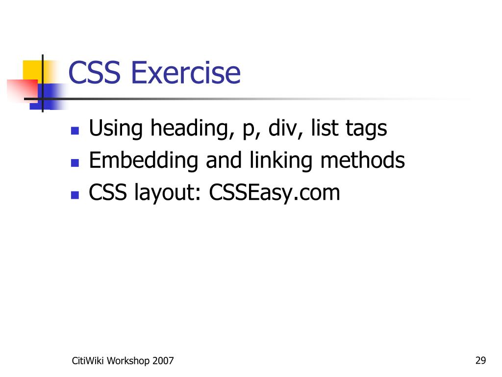 CSS Exercise