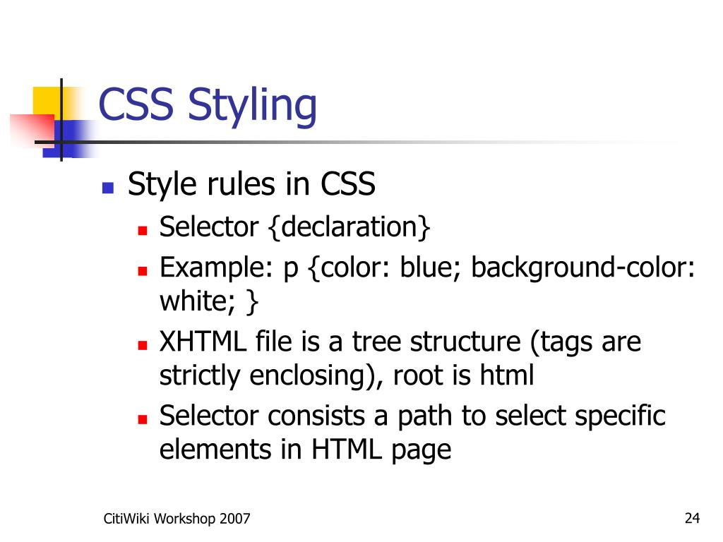 CSS Styling