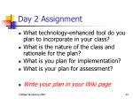 day 2 assignment
