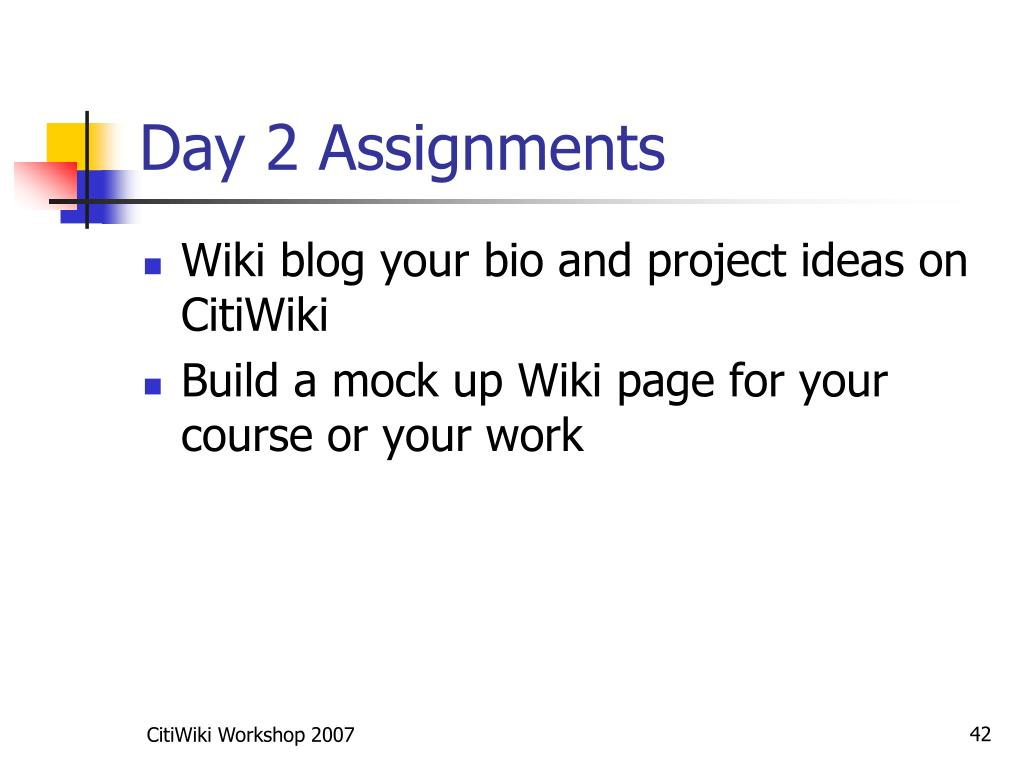 Day 2 Assignments