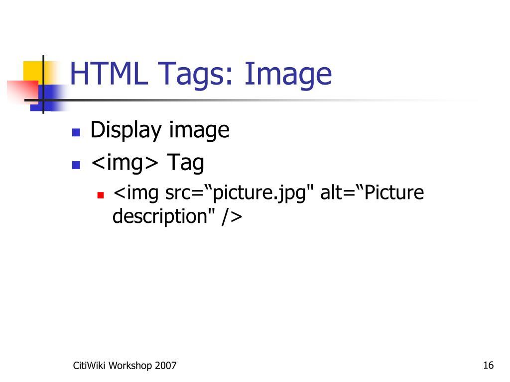 HTML Tags: Image