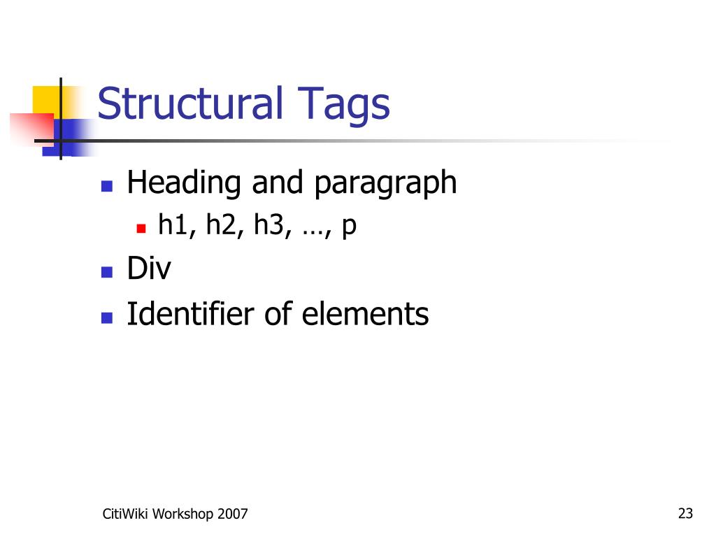 Structural Tags