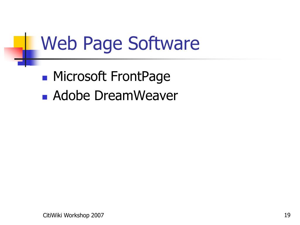 Web Page Software