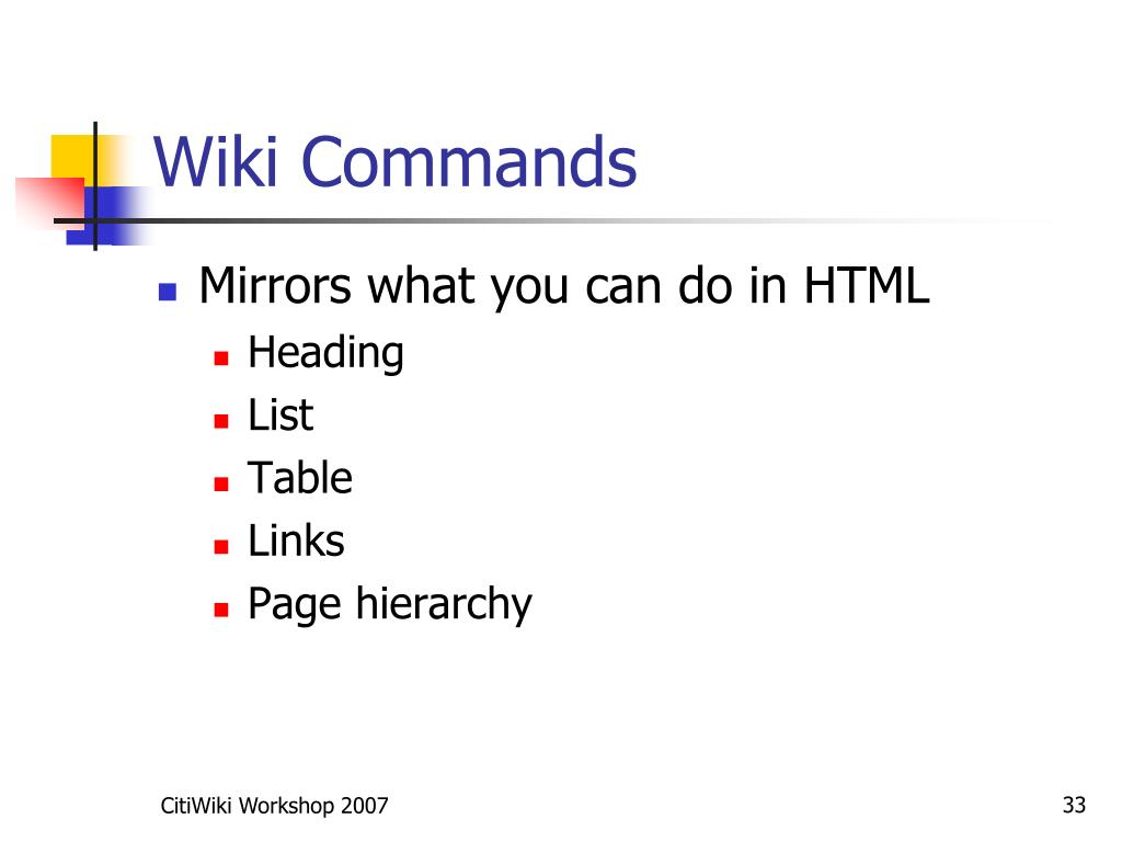 Wiki Commands