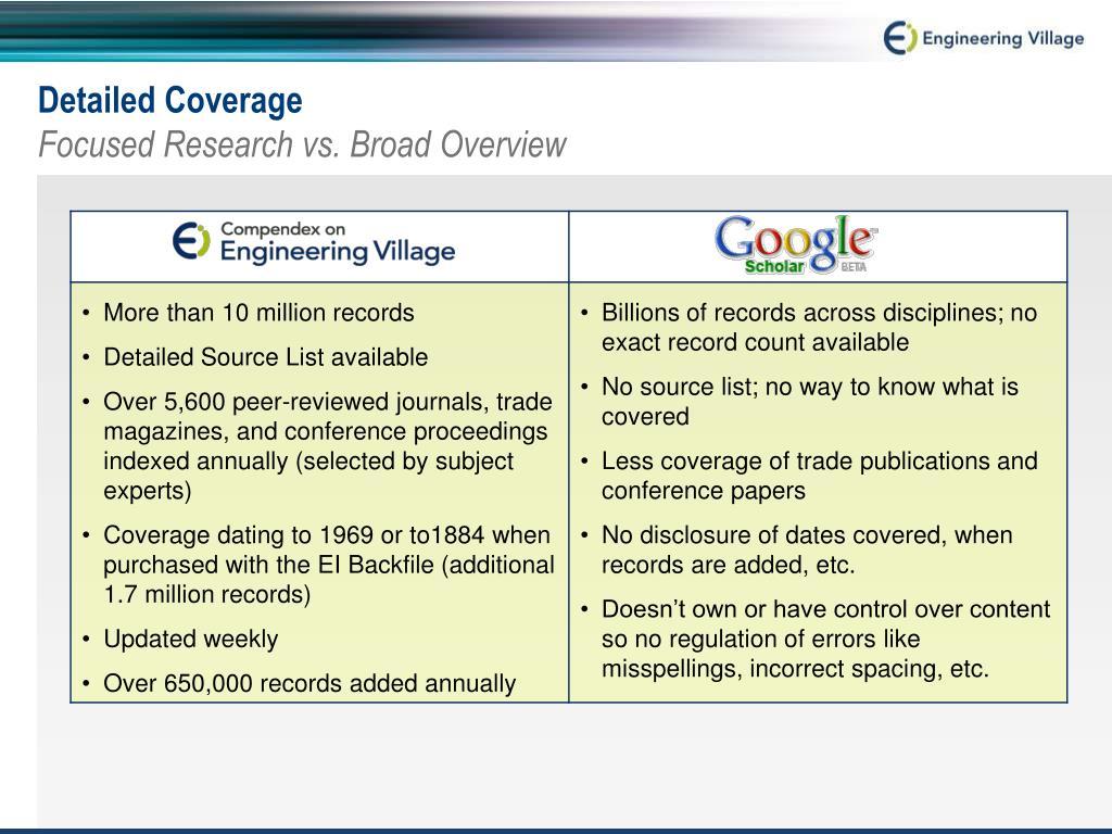 Coverage Details