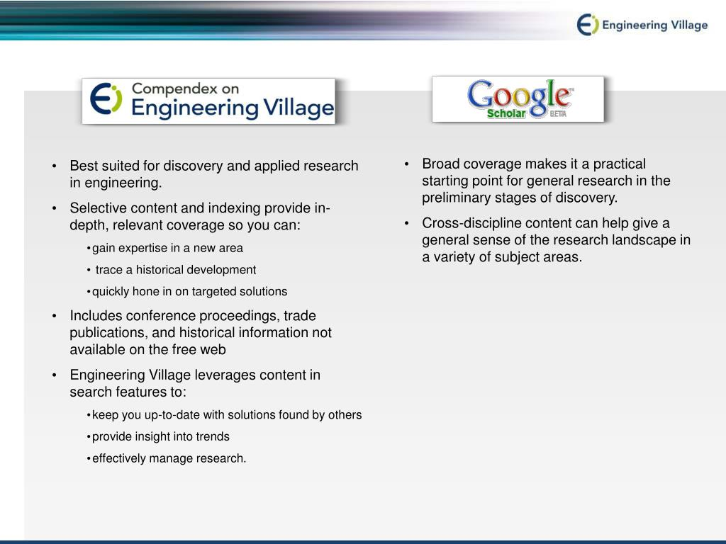 Best suited for discovery and applied research in engineering.