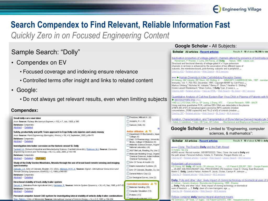 Search Compendex to Find Relevant, Reliable Information Fast