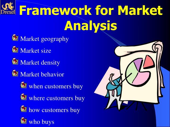 Framework for Market Analysis