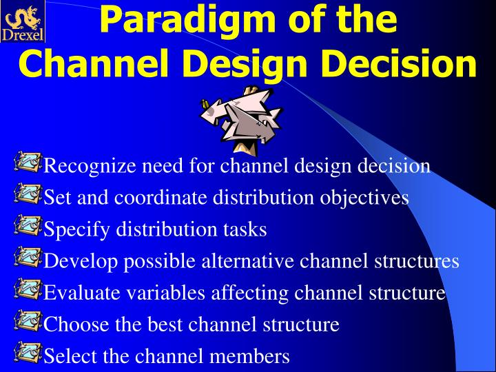Paradigm of the Channel Design Decision