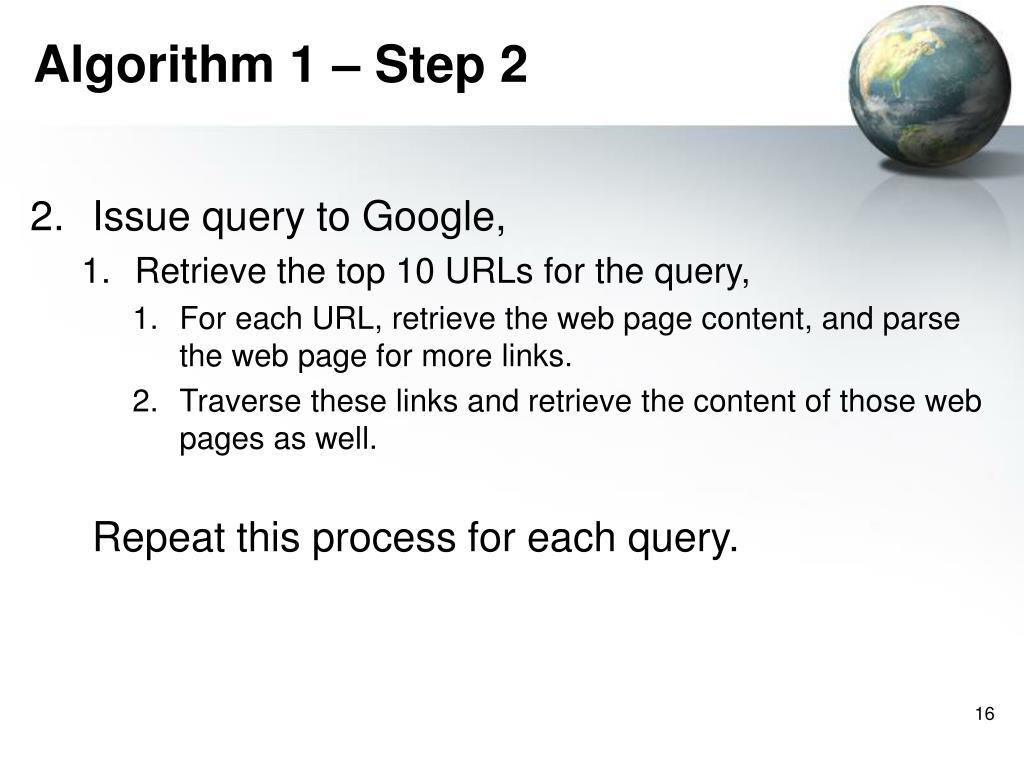 Algorithm 1 – Step 2