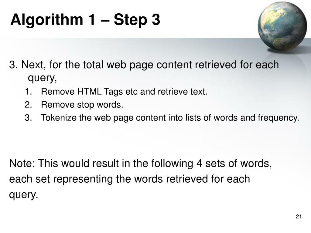Algorithm 1 – Step 3