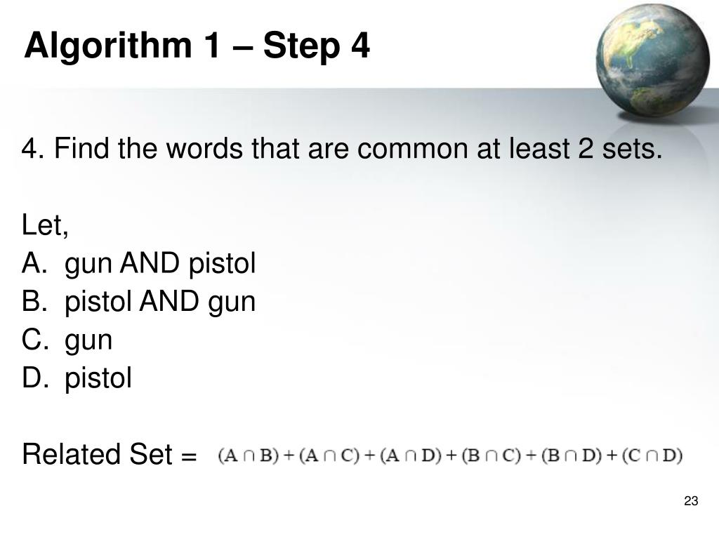 Algorithm 1 – Step 4