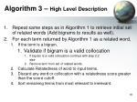 algorithm 3 high level description