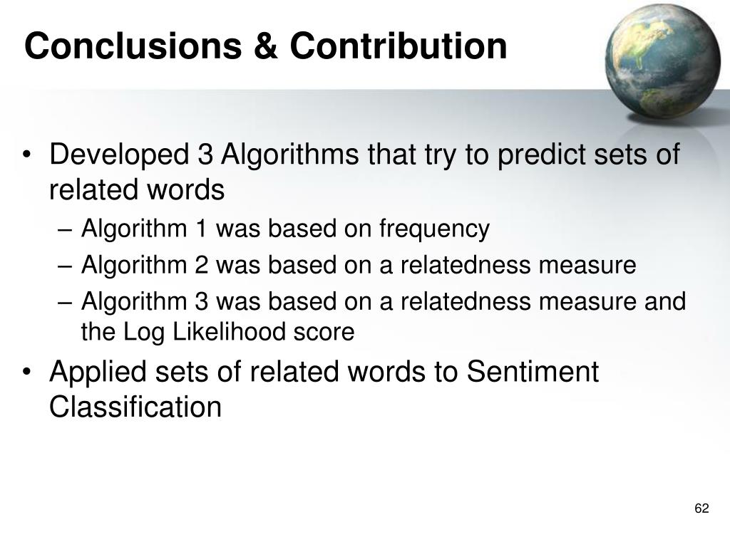 Conclusions & Contribution
