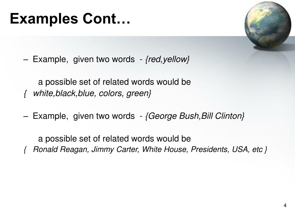 Examples Cont…