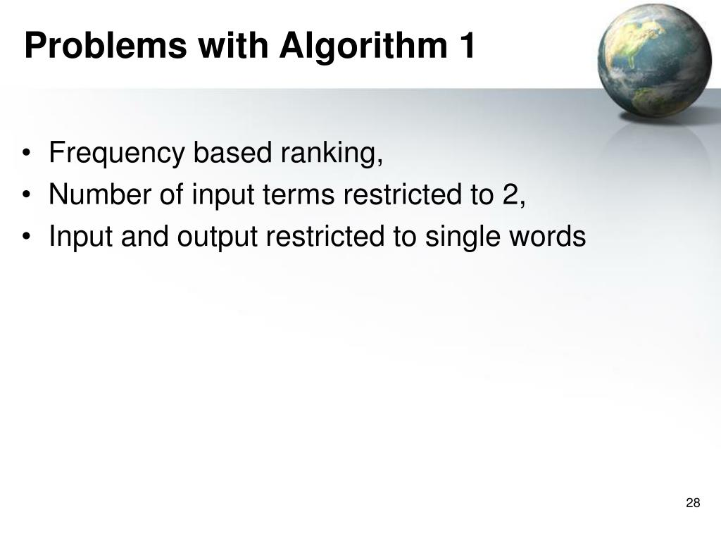 Problems with Algorithm 1