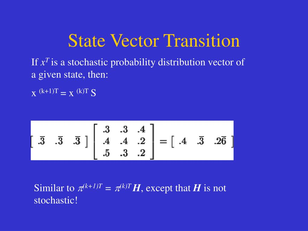 State Vector Transition