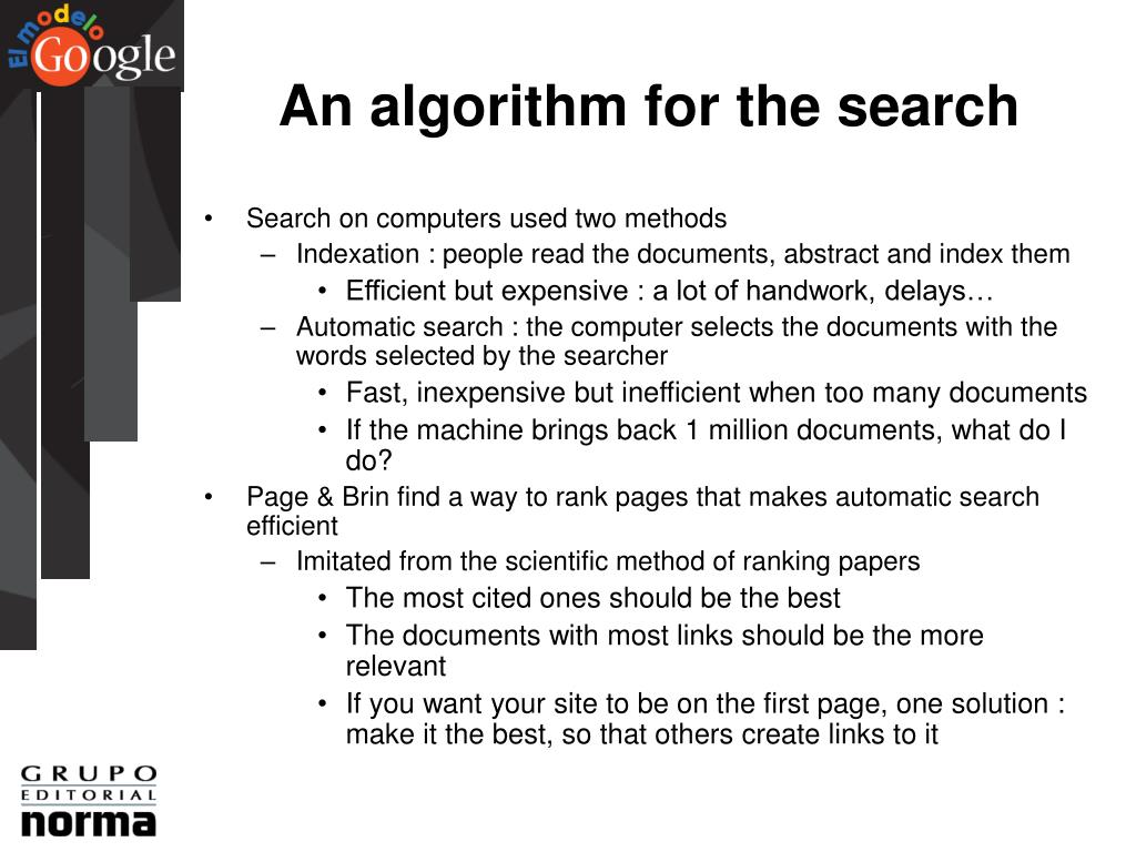 An algorithm for the search