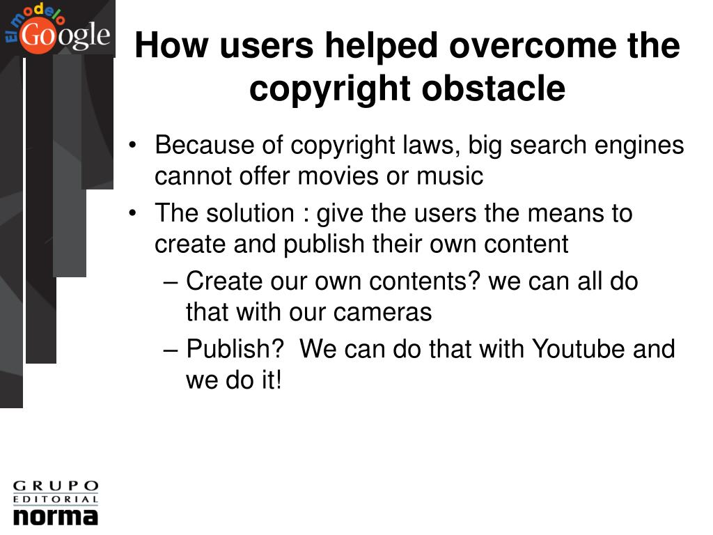How users helped overcome the copyright obstacle