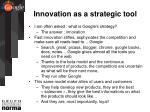 innovation as a strategic tool