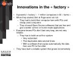 innovations in the factory