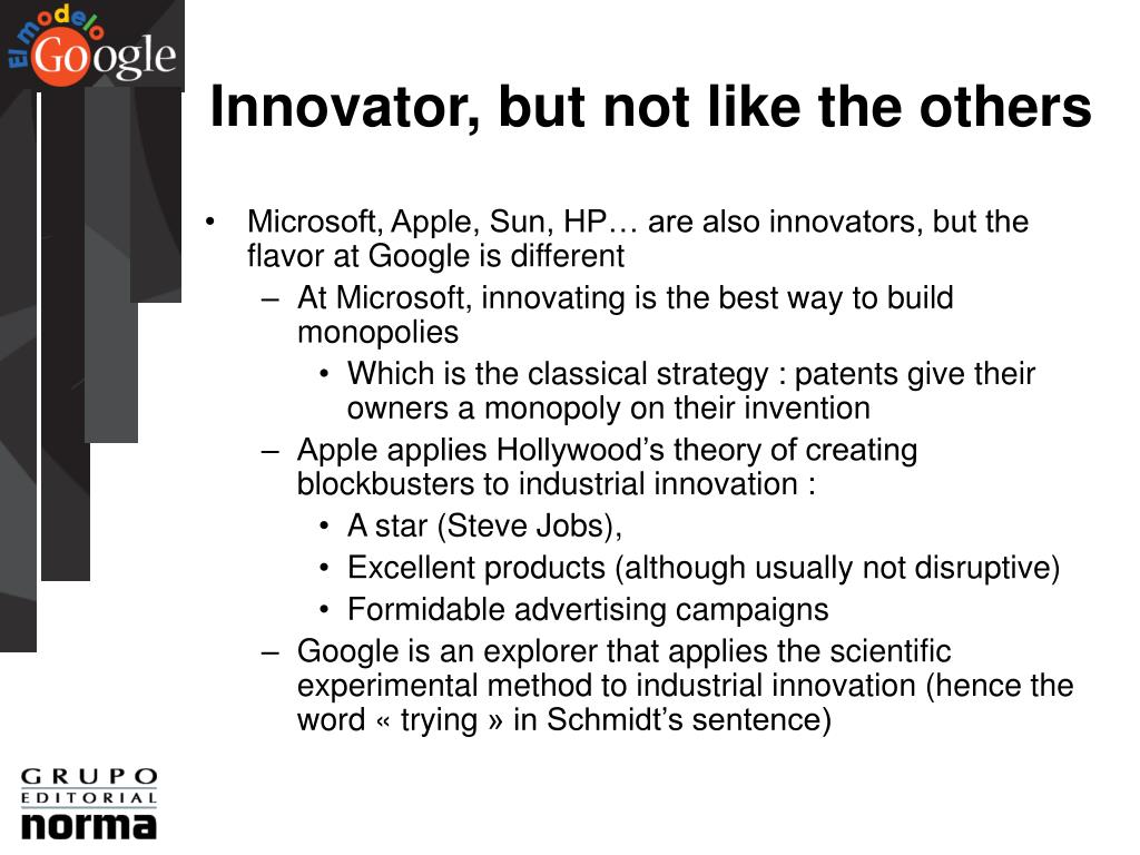 Innovator, but not like the others