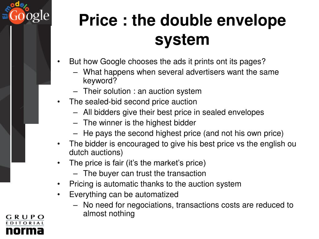 Price : the double envelope system
