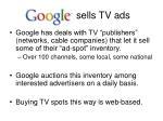 sells tv ads