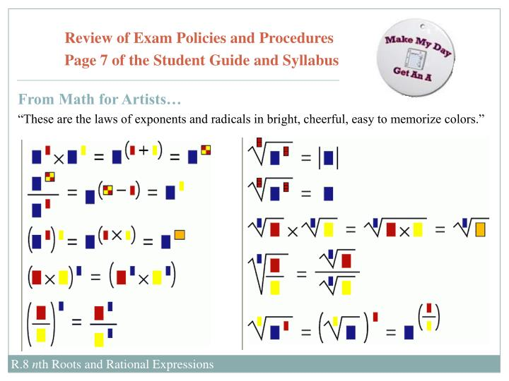 Review of Exam Policies and Procedures
