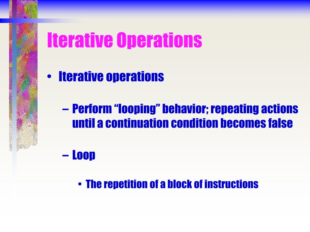 Iterative Operations