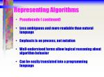 representing algorithms10