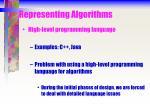 representing algorithms7