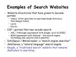 examples of search websites