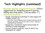 tech highlights continued25