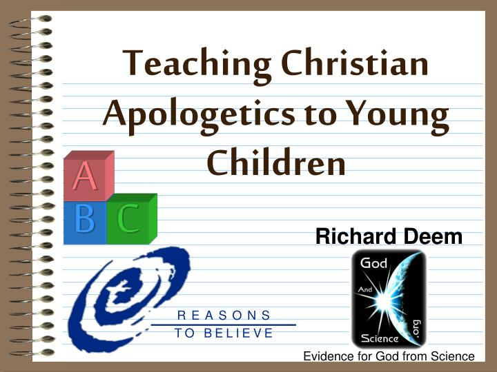 teaching christian apologetics to young children n.