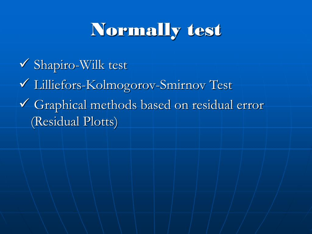Normally test