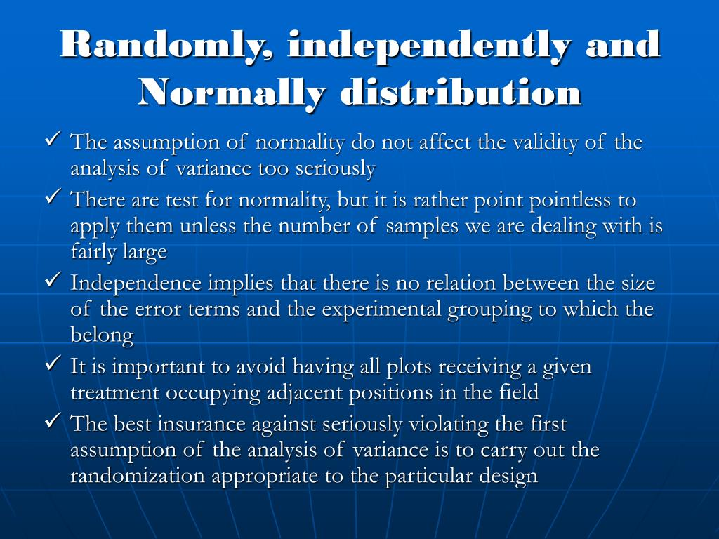 Randomly, independently and Normally distribution