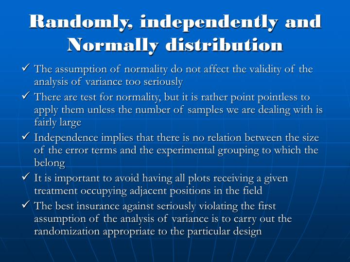Randomly independently and normally distribution