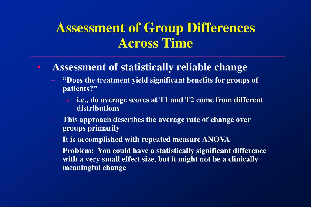 Assessment of Group Differences Across Time