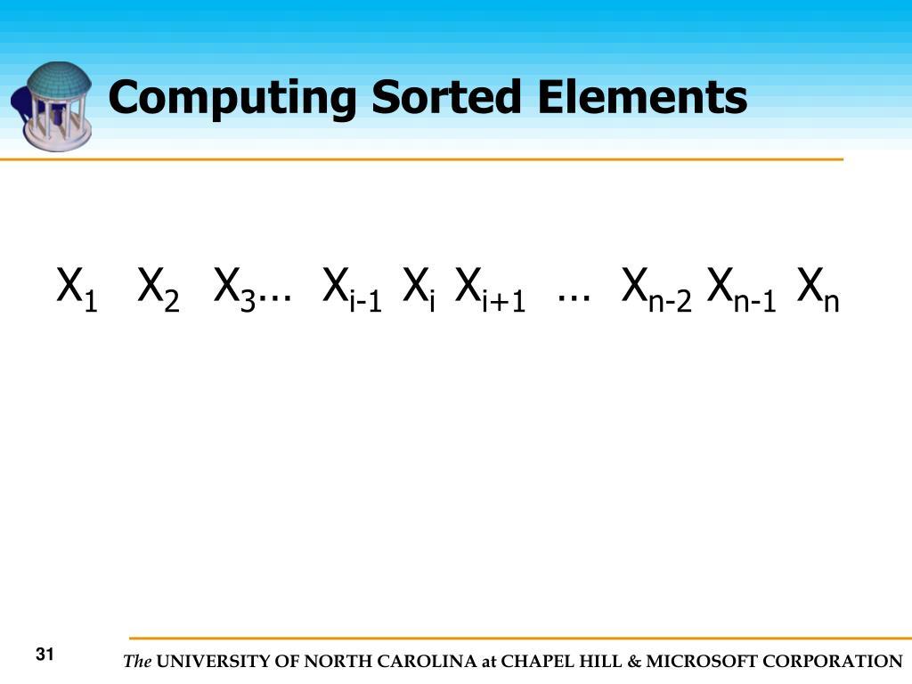 Computing Sorted Elements