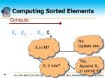computing sorted elements35