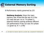 external memory sorting67