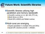 future work scientific libraries