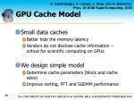 gpu cache model