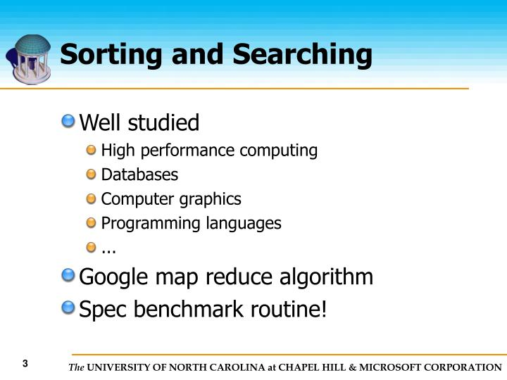 Sorting and searching3